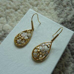 David Yurman 'Tapestry' Drop 18K/Diamond Earrings